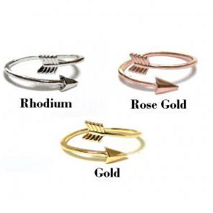 Arrow Ring - Rose Gold over Sterlin..