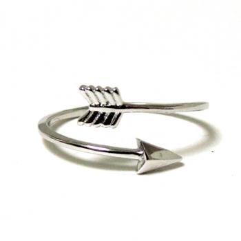 Arrow Ring - Rhodium over Sterling Silver Arrow Ring in size 6